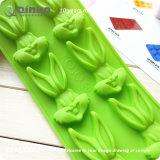 Moulage vert 24*10*1.3cm de traitement au four en caoutchouc de silicones de nourriture de lapin