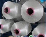 blanco sin procesar 12s/3 en los hilados de polyester hechos girar brillantes del cono de la Virgen de papel de Tfo