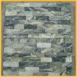 Pierre jaune/noir/blanche de quartz de culture pour le revêtement de mur