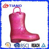 Nouvelle chaussure de pluie en PVC avec lumière LED (TNK90005)