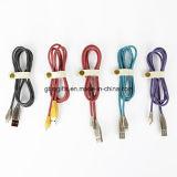 1m/2m 8 Pin/micro carga Hand-Sewn cobrando do USB do couro do vaqueiro do cabo do USB e cabo da sincronização para o sinal de adição do iPhone 7/7plus/6s para Samsung