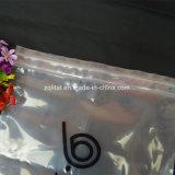 Saco de plástico transparente do LDPE com Zipper dobro