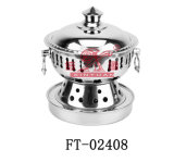 Petit bac de poêle d'acier inoxydable pour chaud (FT-02408)