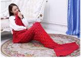 Le maneton tricoté adulte tricoté de bâti de sofa de couverture d'arrière de sirène couvre le sac de couchage de sirène