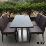 固体表面700mmのレストランの正方形の食卓