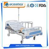 製造業者の供給の贅沢2不安定な機能病院の手動ベッド/手動医学のホームケアの看護のベッド/丘ROMの家具装置