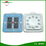 Linterna solar portable ligera que acampa ligera solar de la lámpara Emergency del fichero del bolso del imán al aire libre solar de la luz 10LED