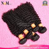100% sin procesar color natural Virgen brasileño rizado cabello rizado