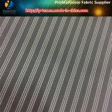 Sofortiges Garn gefärbtes Streifen-Gewebe, Polyester-Gewebe, schwarzer Streifen (S28.31)