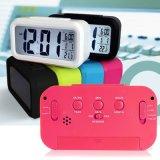 Horloge intelligente de lumière de nuit d'horloge d'alarme électronique