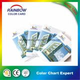 Folleto de reservación modificado para requisitos particulares de la tarjeta del color de la impresión para hacer publicidad