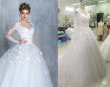 Een kleding van het Huwelijk van de Koker van de Lijn/van de Prinses Lange met Bloem