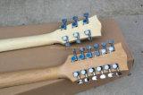 Musique de Hanhai/guitare électrique des chaînes de caractères Strings+6 2-Neck rayon de soleil 12 de tabac