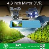 1080P полное HD камера черного ящика DVR зеркала автомобиля передних/задего двойная объектива управляя рекордером