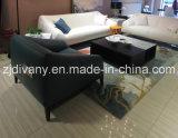 Sofá moderno moderno del cuero blanco de los muebles del sofá (D-76-C)