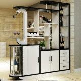 Gabinete de cozinha de madeira da noz padrão modular (UL-WR020)