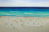 Peinture à l'huile abstraite de reproduction pour le bord de la mer (ZH3279)