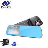 Registrador dual del manual del utilizador de WiFi de la cámara del Rearview de la lente
