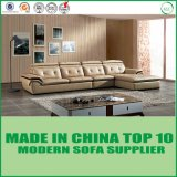 居間の家具の現代革角のソファー