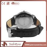 Reloj de cuero negro del avance del cuarzo de la manera