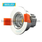 3W proyecto blanco puro ahuecado Dimmable especular LED comercial Downlight