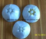 サテン4のパネルのYarmulka Kippotのユダヤ人の頭骨の帽子Kippah