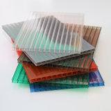 strato di plastica del policarbonato della parete gemellare colorato 10mm di 8mm