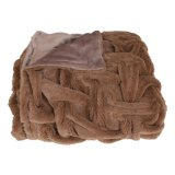 Maneton mou superbe de fourrure de Faux avec la double couverture de peluche