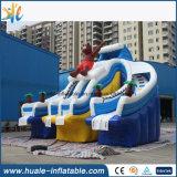 Glissières gonflables de stationnement géant populaire de l'eau pour l'adulte et les gosses