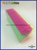 El PVC clasificado plástico de los colores de las pajas de beber encajona el conjunto
