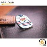 Pin suave modificado para requisitos particulares del pecho de la divisa del botón de la mariposa del metal del esmalte