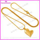 L'acier inoxydable de coeur de bijou en gros d'incinération incinère le collier pendant de souvenir (IJD8032)