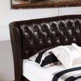 침실 사용 (FB3072)를 위한 까만 색깔 가죽 침대