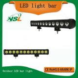 Barre simple d'éclairage LED de vente en gros de barre d'éclairage LED la plus lumineuse de la lumière d'inondation des Crees DEL DEL de rangée 120W