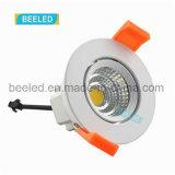 Spiegel3w Dimmable vertieftes reines weißes Projekt Handels-LED Downlight