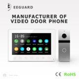 Домашняя обеспеченность 7 дюймов телефона двери внутренной связи дверного звонока Interphone видео- с памятью