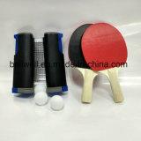 A rede retrátil líquida do tênis de tabela de Pong do sibilo ajustou-se com pás e esferas