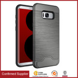 Cassa eccellente del telefono di Kickstand della fessura per carta dell'armatura per Samsung S8