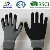 Enduit de nitriles, gants de travail de sûreté de fini de Sandy (SL-NS116)