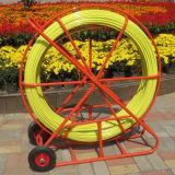 Fibra de vidro de tração Duct Rodder Underground Cable Snake Duct Reel Rod