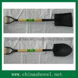 Pala agricola dello strumento della pala con la maniglia di legno