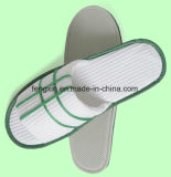 Embroidery Disposable Washable White Cheap Hotel Guest Slippers