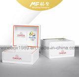 Alta calidad MDF simple del cuero blanco de embalaje caja de reloj