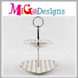 Placa cerâmica do casamento da jóia dos doces do bolo de 2 séries