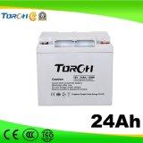 Baterías del gel de la batería de plomo 12V 24ah VRLA de la capacidad plena