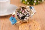 Vigilanza del quarzo di modo dell'orologio del fiore delle donne poco costose della vigilanza