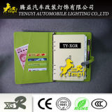 Notitieboekje met Kleurrijke de Aandrijving van de Flits van de Bank USB van de Macht