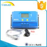 Regulador solar Ys-20A del PC-Software RS485 del LCD-Contraluz de MPPT 20A/30A/40A/50A 12V/24V