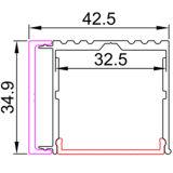 [ج4207] منخفضة [لد] شريط جدار جبل ألومنيوم قطاع جانبيّ بثق ضوء خطّيّ