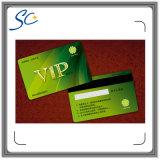 Cartão da listra magnética do PVC Cr08 com número do cartão e código de barras